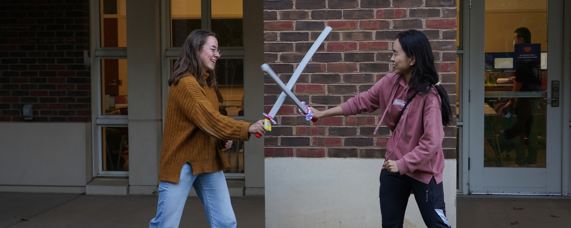 Aramark Ohill employee Talaso Haji with VISAS Workplace intern '19 Elma Adusei. Photo Credit: Andrew Walsh with UVA Spin